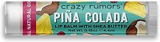 Crazy Rumors Balsamo Per Labbra, Sapore Pina Colada, Vegano - 30 g