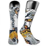 Gundam Unisex Fun Novelty Mid-Calf Boot Socks Fashion Breathable Dress Crew Socks