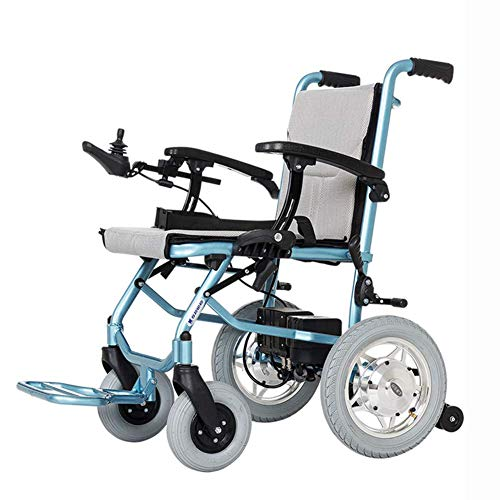 ZCPDP Leichtgewichtiger Rollstuhl, Elektrorollstuhl offen/schnell zusammenklappbar, leichtester Elektrorollstuhlantrieb mit Elektroantrieb oder manueller Rollstuhl, Doppelsteuerung