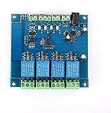 Uspick Módulo de Bricolaje Módulo de relé Modbus de 4 Canales RS485 Controlador TTL Interruptor Modbus-RTU de 4 bits Señal Entrada Salida Conexión Anti-reversa
