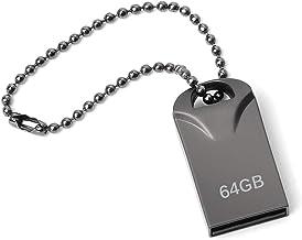 lUCKGOOD886 Memorias USB 64GB, Mini Pendrive 64GB USB Stick Impermeable Metal Unidad Flash 64 GB con Llavero Colgante para Almacenamiento de Datos Externo