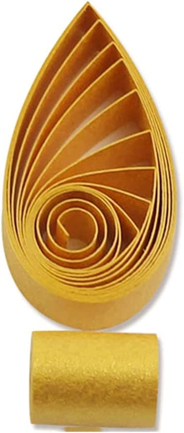 Easy PaperArt Credence Gold Metallic Max 68% OFF Paper 5mm Quilling Strip Pa