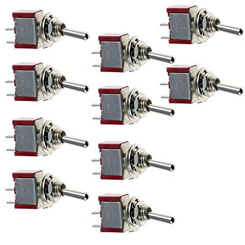 ELEAR™ 10 X EIN/Aus Mini Miniatur Kippschalter Instrumententafel Wippschalter 2 Polig