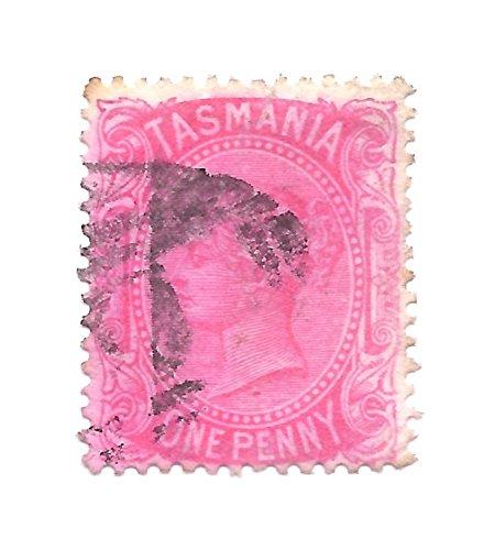 1878 Tasmania (2) Postage Stamp 1 Penny Rose Queen Victoria Scott #60