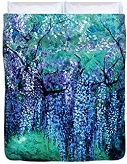 The Wind Whispers Wisteria, Ocean - Duvet Cover, Queen