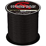 Mounchain Braided Fishing Line 500M, 4 Strands Abrasion Resistant Braided Lines Super Strong 100% PE...