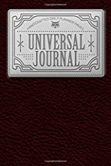 """Universal Journal: Handcrafted Daily Planner, 185 pages, 6""""x9"""" (Planner Journals) (Volume 1) Paperback"""