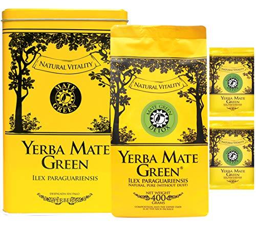 Mate Green Yerba Container Set | Yerbera - Mate Tee Green Detox 500g