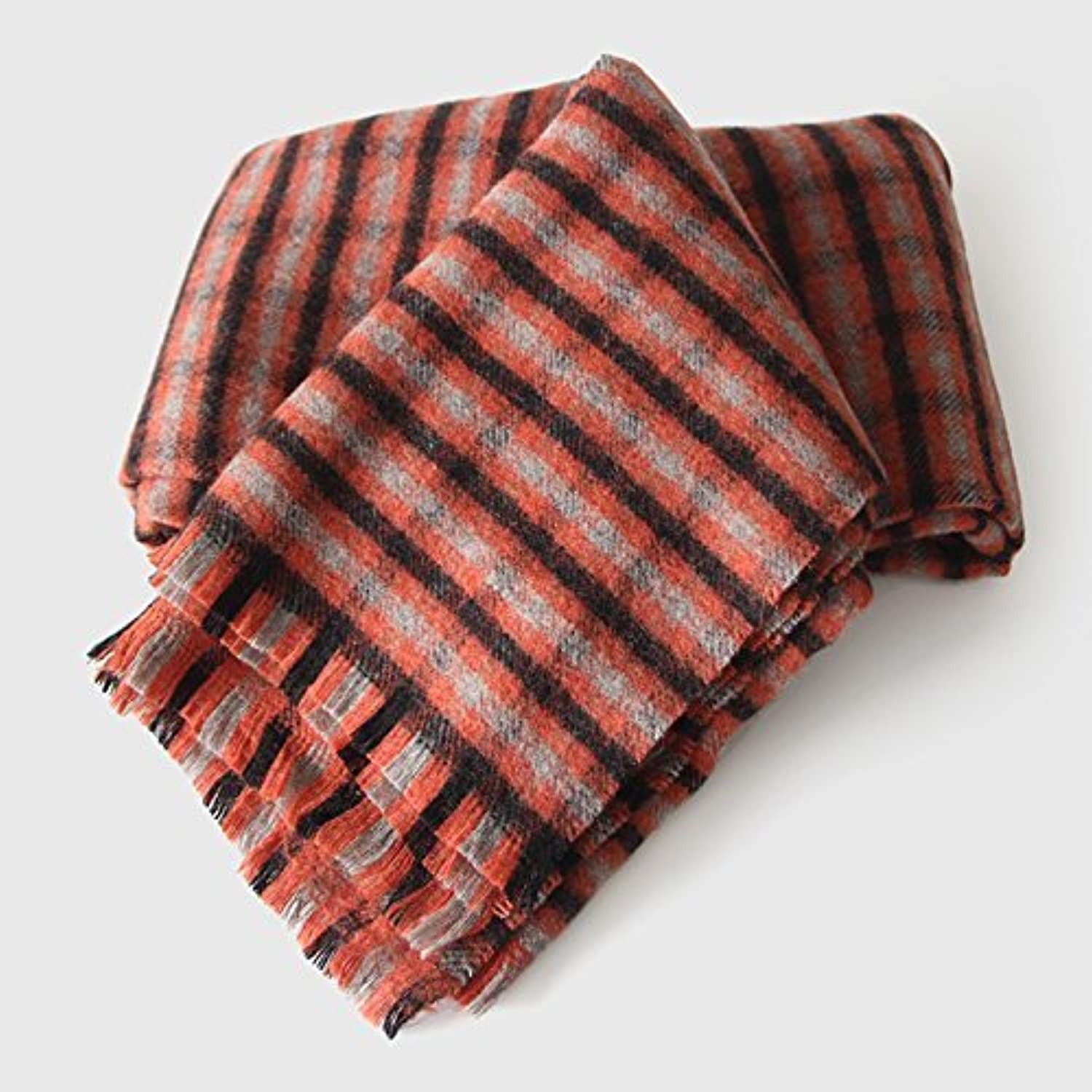 SED ScarfFemale Winter Scarf Thick Warm AllMatch Plaid Scarf Shawl Imitation Cashmere Scarf Female Autumn and Winter Korean Students Knitted Shawl Long