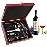 Set Apribottiglie,Smaier Cavatappi a Coniglio, Kit Accessori per vino, Set Regalo con Custodia in...