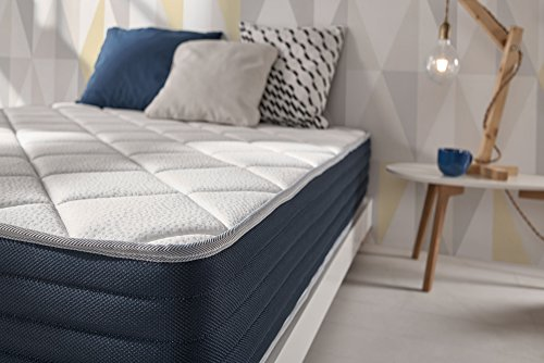 NATURALEX | Matelas Supervisco 140x190 Cm | 1-2 Personnes | Mousses A Mémoire De Forme Confort | Technologie HR Haute Résilience + Multicouches Blue Latex | Support Adaptatif | Ergonomique