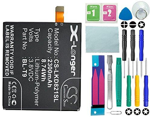 Cameron Sino Akku 2300mAh Li-Polymer Passend für Google Nexus 5, Nexus 5 32GB, Nexus 5 16GB, LG Nexus 5 16GB 32GB D821 D820, ersetzt LG BL-T9, EAC62078701 mit 14 in 1 Reparatur Werkzeug Set Kit