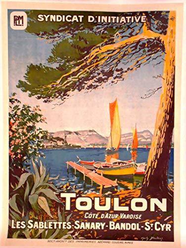 Générique Toulon - Póster de impresión (50 x 70 cm, Papel 300 gR-Venta del Archivo Digital HD, Disponible en la Tienda: Cartel Vintage, FR)