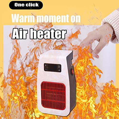 CAPCRD Tragbare Schreibtischtyp Heizung Kleiner elektrischer Heizgerät für Haushaltsauto Warme Winter Elektrische Raum Heizung Desktop Heizung Britische Regeln (Farbe : Schwarz, Size : Us)