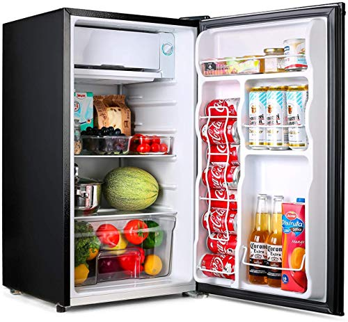 Buy Bargain TACKLIFE Compact Refrigerator, 3.2 Cu Ft Fridge with Freezer, Energy Star Rating, Low noise, for Bedroom Office or Dorm with Adjustable Temperature, Removable Glass Shelves- MPBFR321