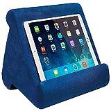 FANIER Support Universel pour Tablette iPad, Pad Pillow Support pour Coussins Souples Multi-Angles pour lecteurs de Livres électroniques, Smartphones, Lecteurs Électroniques, Magazines (Bleu Royal )