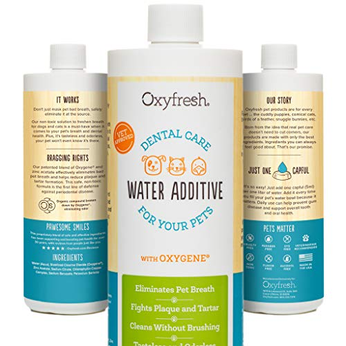 Oxyfresh Premium Pet Dental Care Solution Pet Water Additive: Best Way to Eliminate Bad Dog Breath and Cat Breath…