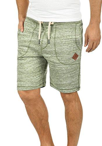 !Solid Aris Herren Sweatshorts Kurze Hose Jogginghose Mit Melierung Und Kordel Regular Fit, Größe:M, Farbe:Ivy Green (3797)
