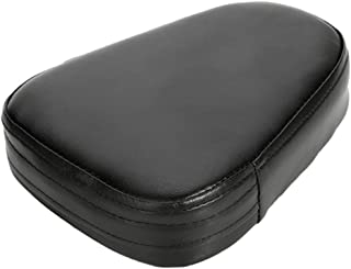 CICMOD Universal Motorcycle Synthetic Leather Rear Sissy Bar Backrest Cushion Pad - Black