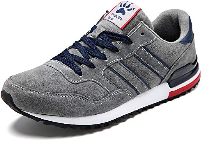 LOVDRAM Men's shoes Spring Men'S Sports shoes Leather Jogging Fashion shoes Men'S shoes Leather Retro Running shoes