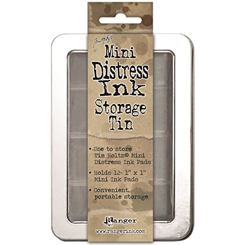 Ranger Mini Distress Ink Storage di latta - Contiene 12