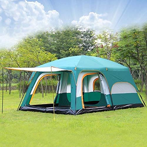 4-6 Personnes Grande Tente De Camping Familiale Étanche Double Fête En Plein Air Deux Chambres Vent Coupe-vent 4 Saison Huttes De Plage Tente