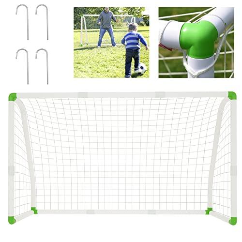 AufuN Fußballtor PVC-Fussballtor Kinder 180cm x 120cm Fussballtore für Garten bei jedem Wetter