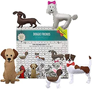 Madam Posy Design: Kids Sewing Kits Learn to Sew Your Own Stuffed Dogs Animal Sewing Craft Kit for Boys and Girls Ages 7-12