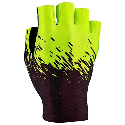 Supacaz Handschuhe Supa-G Kurz Fahrrad Fingerlos Glove TRK MTB Mountain Bike Trekking Rennrad, GL, Farbe Schwarz Neon Gelb, Größe M
