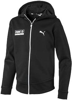 PUMA Sudadera JR Alpha Graphic Sweat Jacket 01, color negro