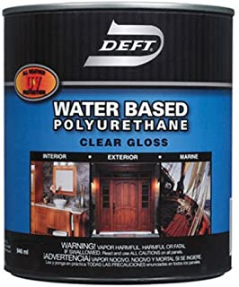 Deft 257-01 Water-Based Polyurethane Interior Exterior Gloss, 1-Gallon