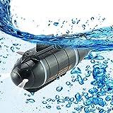 LYXCM Juguetes submarinos Mini RC, Barco teledirigido del Submarino RC Recargable   Juguete de Buceo electrónico Impermeable para Piscina de Regalo para niños