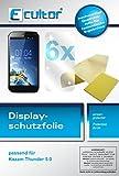 Ecultor I 6x Schutzfolie klar passend für Kazam Th&er 5.0 Folie Bildschirmschutzfolie