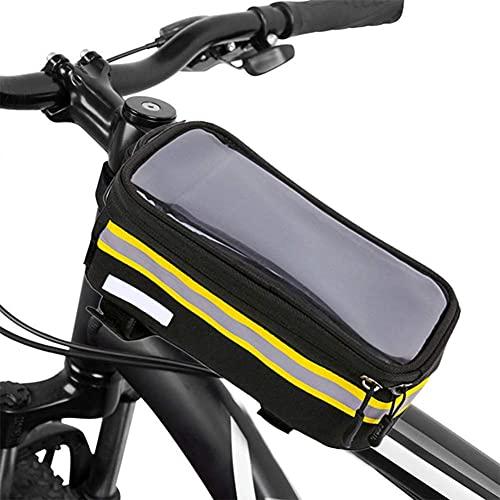 Bolsa De Bicicleta Impermeable Bolsa De Sillín Bolsa De Sillín Frontal De Bicicleta De Montaña Bolsa De Tubo Superior Frontal Pantalla Táctil Bolsa De Teléfono Móvil Extraíble Bolsa De Montar Imperme