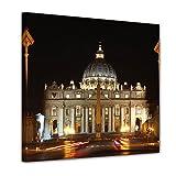 Bilderdepot24 Cuadros en Lienzo'Ciudad del Vaticano - Roma' 100x100 cm -...