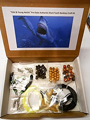 Kidz & Young Adultz Pro-Style Authentic Fossil Shark Tooth Necklace Craft Kit