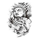 Blume Arm Tattoo Aufkleber Fox Owl Tiger Buddha Magic Half Arm TH-416 148 * 210MM