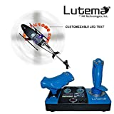 Lutema 2.4GHz Heligram Flight Simulator Remote Control Helicopter with LED SkyText Technology, Blue