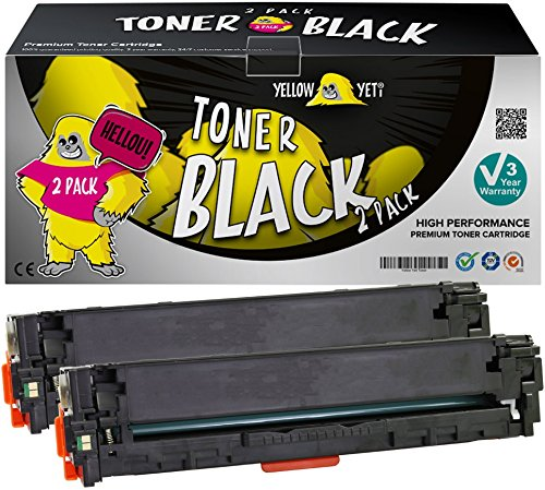 Yellow Yeti 131X CF210X 731 (2400 Seiten) 2 Schwarz Premium Toner kompatibel für HP Laserjet Pro 200 Color MFP M276nw M276n M251nw M251n Canon i-SENSYS LBP7100Cn LBP7110Cw MF628Cw
