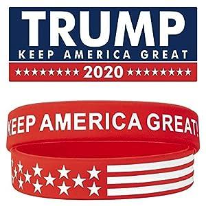 """""""Keep America Great!"""" Von Donald Trump Silikonarmbändern! Tragen Sie diese ARMBÄNDER und machen Sie eine ERKLÄRUNG: Wenn Sie nach coolen und patriotischen Armbändern suchen, die Sie täglich tragen können, sind Sie bei uns genau richtig. Wir präsentie..."""