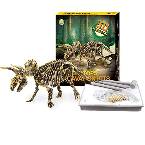 Dinosaur Skeleton 3D Dig a Dino Fossil Bones DIY Excavation Science Education Kit - Triceratops