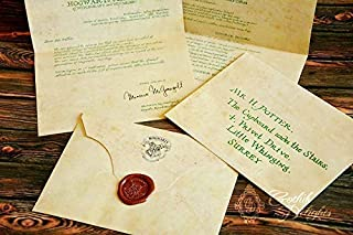 Acceptance Letter with wax seal, customizable with your name and address!