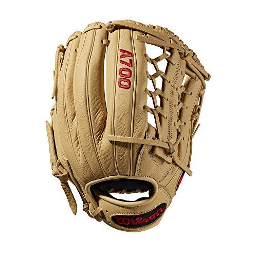 Wilson Unisex Youth A700 Baseball Gloves Dark BrownWhite 12 Inch