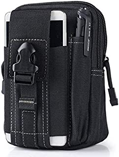 Universal Outdoor Tactical Holster Military Molle Hip Waist Belt Bag Wallet Pouch Purse Phone Case with Zipper for iPhone 7 and HTC
