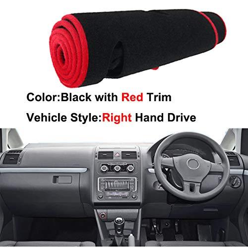 Auto Armaturenbrett Abdeckung Dash Mat für Volkswagen VW Touran 2003 2004-2009 2010 2011 2012 2013 2014 2015 Pad Sonnenschutz Car Styling,Red