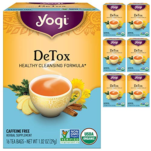 Yogi Tea - DeTox Tea (6 Pack) - Healthy Cleansing Formula With Traditional Ayurvedic Herbs - 96 Tea Bags Total
