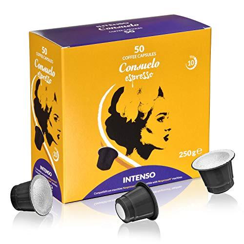 Consuelo - cápsulas de café compatibles con Nespresso* - Intenso, 50 cápsulas