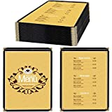 25 Pack of Menu Covers - Single Page, Fits 8.5 x 11 Inch Paper Menu Holder Double Stitched Restaurant Menu Covers