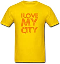 Simshirt Men's I Love My City Short Sleeve T-Shirt