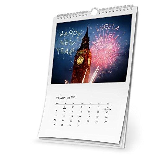 Namenskalender Angela, Wandkalender 2019 als personalisierter Kalender mit Namen